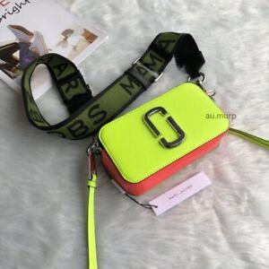 NWT Genuine Marc Jacobs Snapshot Small Camera Bag Crossbody apple green  sales