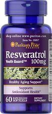 Puritan's Pride Resveratrol 100 mg  60 Softgels