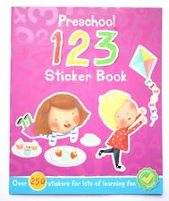 Pre School Early Learning Activity Book Learn Numbers Stickers Children 1 2 3 4