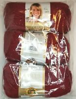 Lion Brand VANNA'S CHOICE Yarn ~ Cranberry ~ Lot of *3* New Skeins