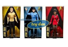 Barbie Collector Star Trek 50th Anniversary: Kirk, Uhura, Spock Set of 3 Dolls