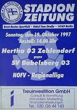 Programm 1997/98 Hertha 03 Zehlendorf - SV Babelsberg 03