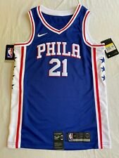 Nike Embiid Phila Jersey Small 76ers Mens Blue 21 Dri-fit NBA New NWT Was $100
