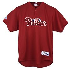 Philadelphia Phillies Majestic Jersey Mens Large Made In USA Stitched