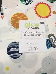 NWT! Pottery Barn Kids Glow In The Dark Solar System Organic Sheet Set/Queen$129