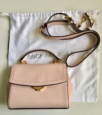 Michael Michael Kors Ava Extra-Small Leather Crossbody Light Pink with Dust  Bag 7aa484da18dc9