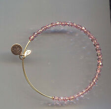 ALEX & ANI gold amethyst glass bracelet