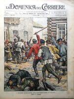La Domenica del Corriere 4 Ottobre 1903 Antisemiti Russia Telegrafia Senza Fili
