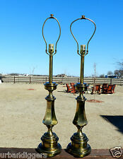 9800/ Pair of STIFFEL BRASS Table Lamps ~ Lights / Estate Item