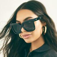 New Women Quay ICY Studs Square Studded on Brow Sunglasses Black Smoke Eyewear