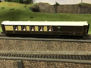 HORNBY R4150C BR PULLMAN 3rd CLASS BRAKE COACH CAR No 162 WITH LIGHTS MINT BOXED