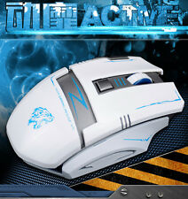 2.4 g Wireless Recargable 2400dpi 6 Botones Optical Laser Usb Pro Gaming Mouse