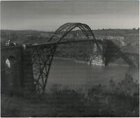 Kunstfoto, photographie d'art Eisenbahnbrücke, Bretagne Großes Orig-Foto um 1935