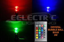 Super BRIGHT 16 Color Changing RGB E26 E27 Crystal Ball Bubble LED Light Bulb