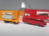 Wiking C&I Sondermodell MB 1413 Sperrmüll Abfuhr und MTF3 Bus Feuerwehr Berlin