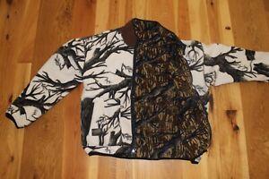 Browning Barrier Fleece Gore Windstopper Snow/Wood Camo Reversible Jack Men's L