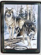 The Bradford Exchange Seasons Of The Wolf Wall Plate Peace Christmas By Al Agnew