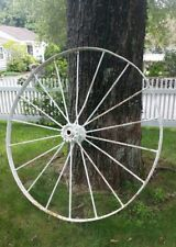 "Large 55"" Antique Iron Wagon Wheel"