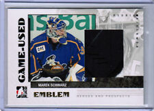 07/08 ITG HEROES & PROSPECTS MAREK SCHWARZ GAME-USED EMBLEM CARD PEORIA RIVERMEN