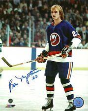 Bob Nystrom Signed Auto NY Islanders 8x10 Photo - COA - Stanley Cup - NHL