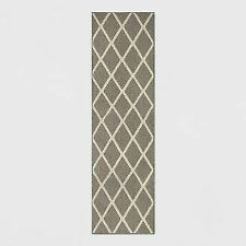Threshold Diamond Washable Tufted and Hooked Runner-Warm Gray, 2' x 7'