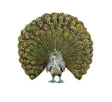 Bronce de Viena-coloridos pavo real, con sello-animal personaje en miniatura de bronce