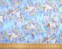 Fleur Fabric - Glitter Fairy on Blue & Purple CM8596 - Timeless Treasures YARD