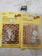 """Dollhouse Chandelier Lamp sewing machine Houseworks 2754, 2650 , 1"""" Scale New"""