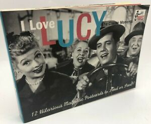 I Love Lucy Lucille Ball Classic Moments TV Movie Magnetic Post Card Book 12 Ct