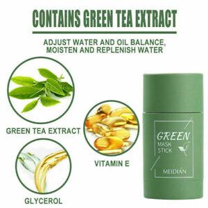 Green Tea Purifying Clay Stick Mask Oil Control Anti-Acne Eggplant Deep clean
