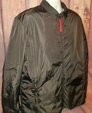 PRADA Men's Size 54 Brown Nylon Zippered Front Insulated Ski Coat, Art. SGV292