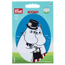 Prym Applikation Patch Mumin Mama & Papa, blau  925191