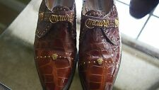 MAURI GENUINE CROCODILE SHOES (BROWN) MADE IN ITALY MEN'S SZ 8.5M - ORIG $1200