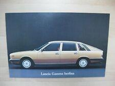 Lancia Gamma Berlina Coupe folder brochure Prospekt Multilingual 6 pages 1976