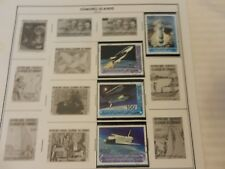 Lot of 4 Comoro Islands Space Shuttle Apollo Stamps from 1980-82