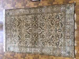 "3'-4""x5' Older Persian Silk Qum Rug -  100% Silk Pile 100% Hand-knotted"