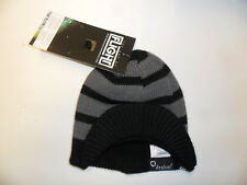 "Quiksilver Boy's Visor Beanie ""Sling Shot"" - BLK - One Size - NWT"