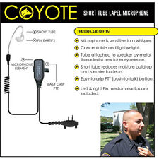COYOTE Lapel Mic Headset for ICOM F3G F3GS F4G F4GS F11 F21 F31 F33 2-Way Radios