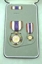 US Agency, Border Patrol, Purple Cross Wound Medal, cased set/3, w/shipping box