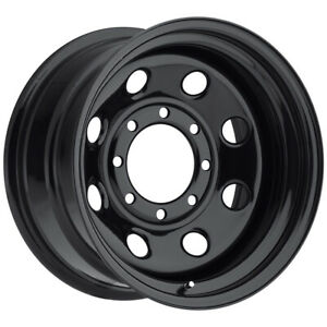 """Vision 85 Soft 8 15x8 5x4.5"""" -19mm Gloss Black Wheel Rim 15"""" Inch"""