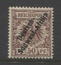 1897 German South West Africa early 50 Pf. issue mint*, $ 336.00