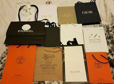 12Pcs, Authentic Brand Gift Bags HERMES, CHANEL, DIOR, MILLE and more. Used