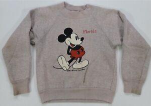 Rare Vintage SHERRY Mickey Mouse Florida Walt Disney Sweatshirt 70s 80s Youth M