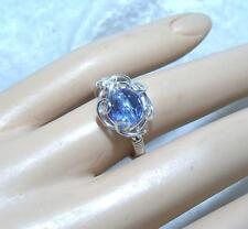 Handcrafted Blue Sapphire Bead Ring