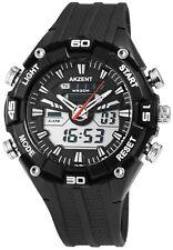Reloj Hombre analógico digital negro blanco + Box cuarzo reloj de pulsera d-24200016001795