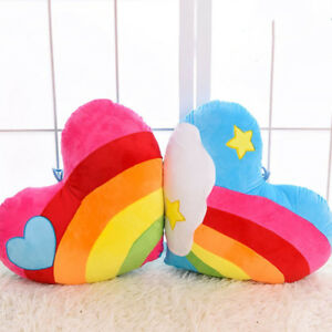 Rainbow Love Cloud Heart Shaped Plush Toy Cushion/Cushion Birthday Gift Party