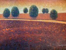 oil paintings original signed 24x36 Canvas Unstretched Landscape Art