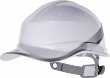 Delta Plus Venitex Hard Hat Safety Helmet White Hi Viz Textile Cradle Diamond