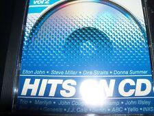 Hits On CD Vol. 2 Various 1984 CD (INXS Marilyn Yello JJ Cale Elton John Berlin)