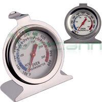 Termometro in acciaio temperatura forno interno cottura cibo cucina gancio stand